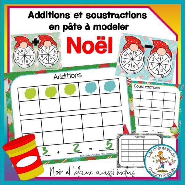 Additions et soustractions - Noël