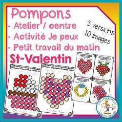 Atelier de pompons - St-Valentin