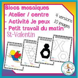 Atelier de blocs mosaïques - St-Valentin