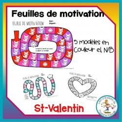 feuilles de motivation - St-Valentin
