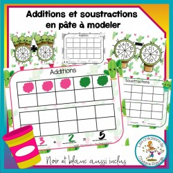 Additions et soustractions en pâte à modeler