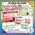Routine du matin - mois de la nutrition