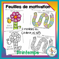 feuilles de motivation - printemps