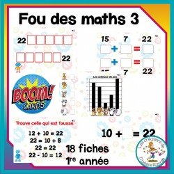 Fou des maths 3 - Boom Cards