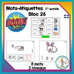Étude de mots - bloc 26 - Boom Cards