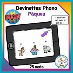 Devinettes phono - Pâques - Boom Cards