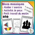Atelier de blocs mosaïque - été