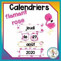 Calendrier mural - flamants roses