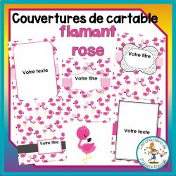 Pages couvertures - flamants roses