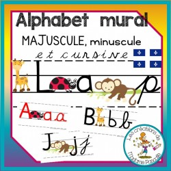 Alphabet mural -  qc - coccinelle/singe/girafe