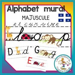 alphabet - Maj + cursif/Qc/singe/coccinelle/girafe
