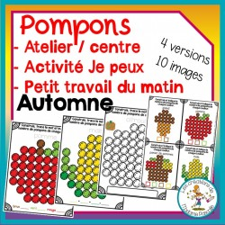 Atelier de pompons - automne