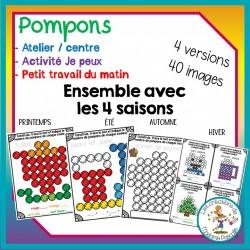 Ensemble d'ateliers de pompons - 4 saisons