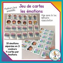 jeu de cartes - les émotions