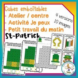 Atelier de cubes emboitables - St-Patrick