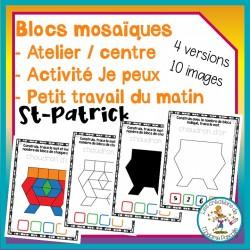 Atelier de blocs mosaïques - St-Patrick