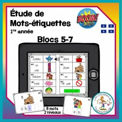Étude de mots - blocs 5-7 - Boom Cards