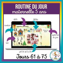 Routines du jour Maternelle 5 ans - jours 61-75