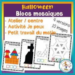 Atelier de blocs mosaïques - Halloween