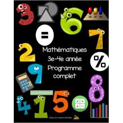 Maths 3e-4e: Année complète en exercices