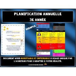 Planification annuelle détaillée 3e année