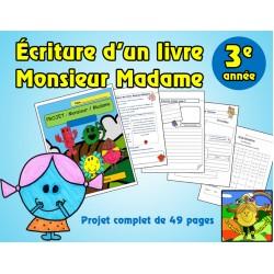 Projet d'écriture d'un livre Monsieur Madame 3e