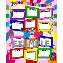 Affiche anniversaire classe