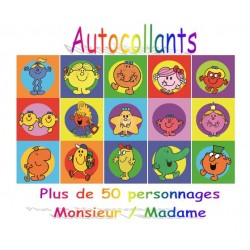 Autocollants Monsieur Madame