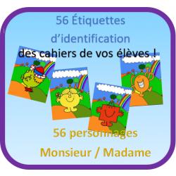Étiquettes d'identification des casiers