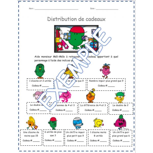 Distribution de monsieur Méli-Mélo