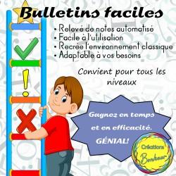 Bulletins faciles - Relevé de notes automatisé