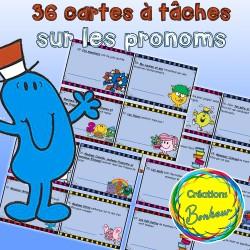 Cartes à tâches sur les pronoms