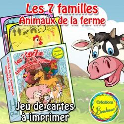 Jeu des 7 familles - Animaux de la ferme