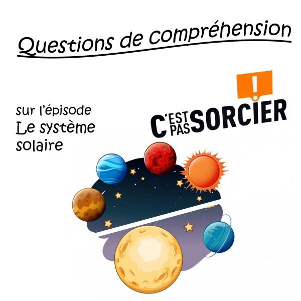 Le système solaire - Compréhension