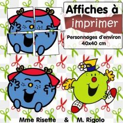 DIY - Affiches Mme Risette & M. Rigolo