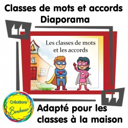 Diaporama - Les classes de mots et les accords