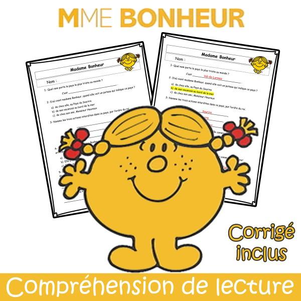 Mme Bonheur - Compréhension de lecture