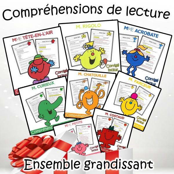 BUNDLE Monsieur Madame - Compréhensions de lecture