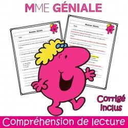Mme Géniale - Compréhension de lecture