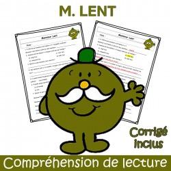 M. Lent - Compréhension de lecture