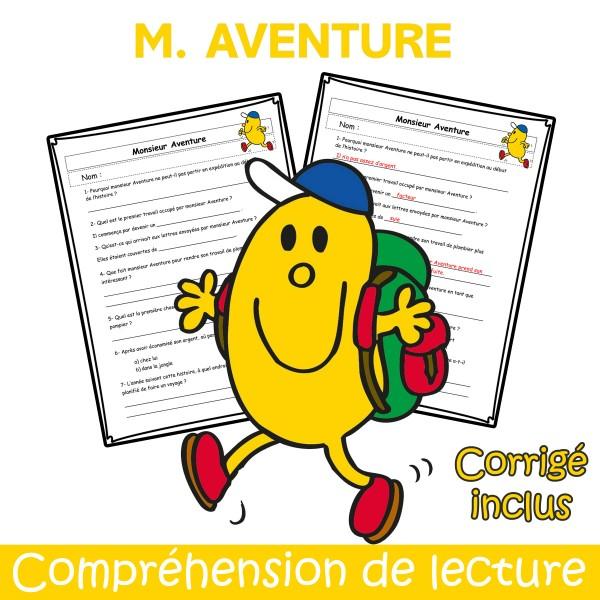 M. Aventure - Compréhension de lecture