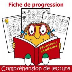 Fiche de progression - Compréhension de lecture