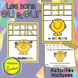 Les sons EU et EUR - Affiches et activités