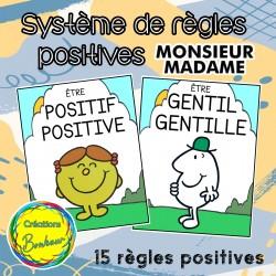 Système de règles positives Monsieur Madame