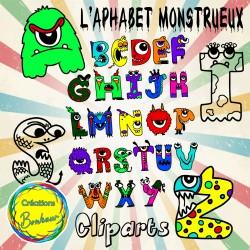 Cliparts - L'alphabet monstrueux