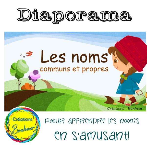 Diaporama - Les noms (communs et propres)