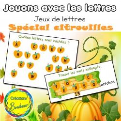 Jeux de lettres - Spécial citrouilles