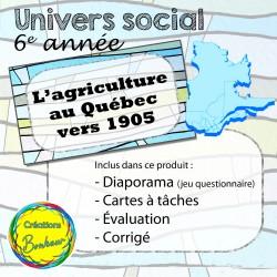 L'agriculture au Québec vers 1905