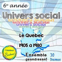 Ensemble d'univers social - Québec 1905-1980