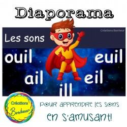 Diaporama - Les sons ouil, ail, ill, eil et euil